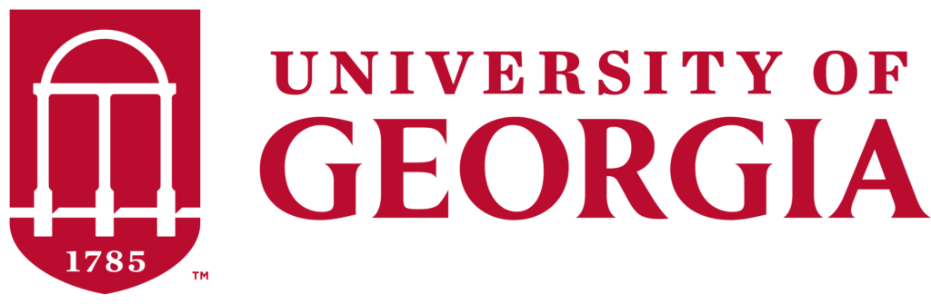 University of Georgia two-color red logo